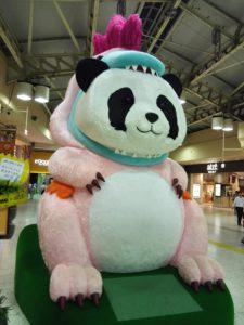 上野駅にいたパンダ